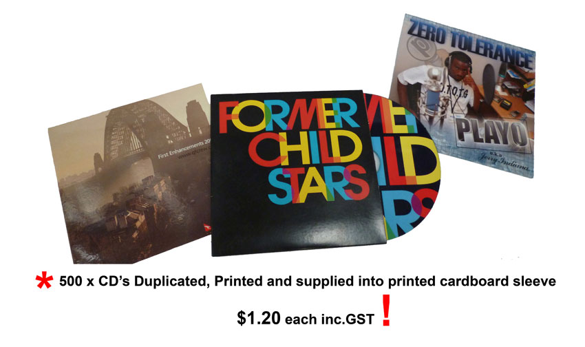Examples of our CD duplication services in Sydney