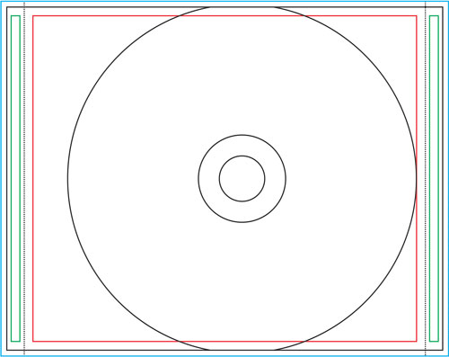 Inlay inside for clear tray for Cd inlay template